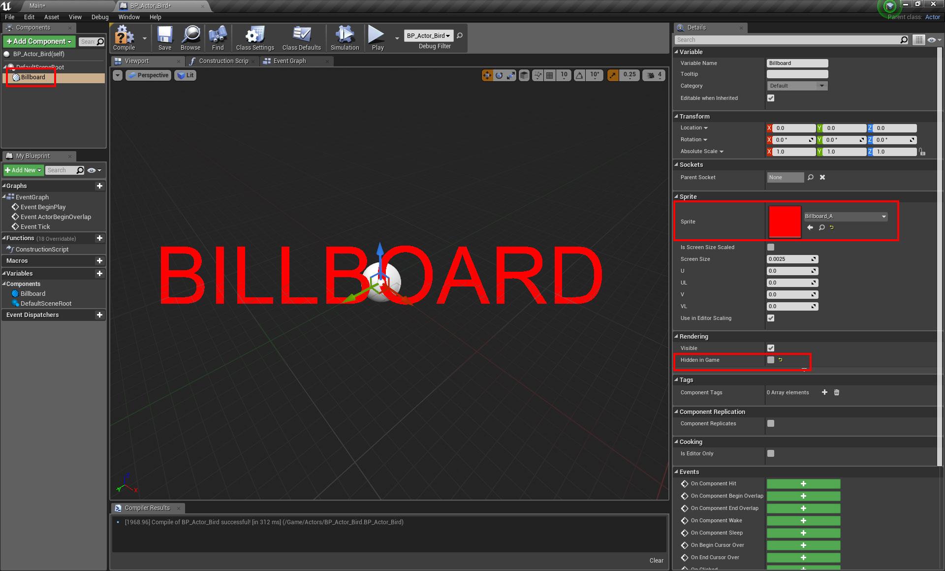 Ue4 create a billboard sprite oded erells cg log malvernweather Image collections