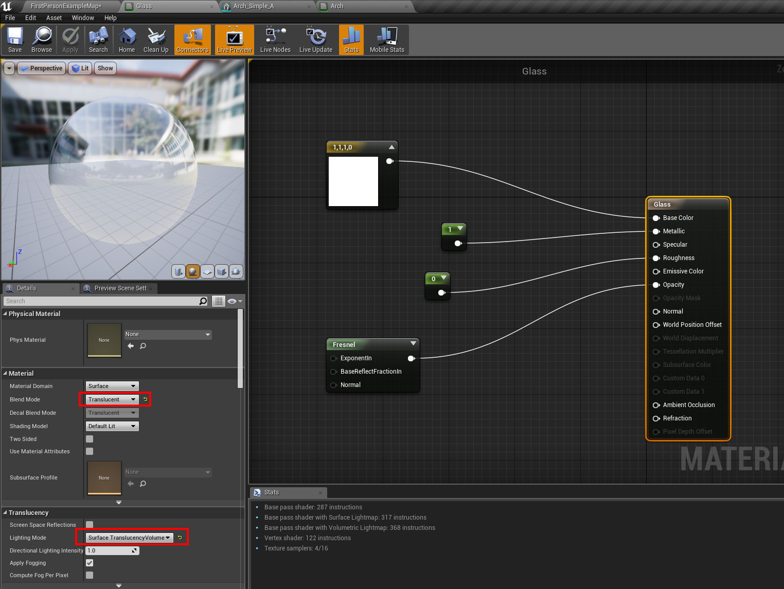 Basic architectural glazing material in UE4 – Oded Erell's