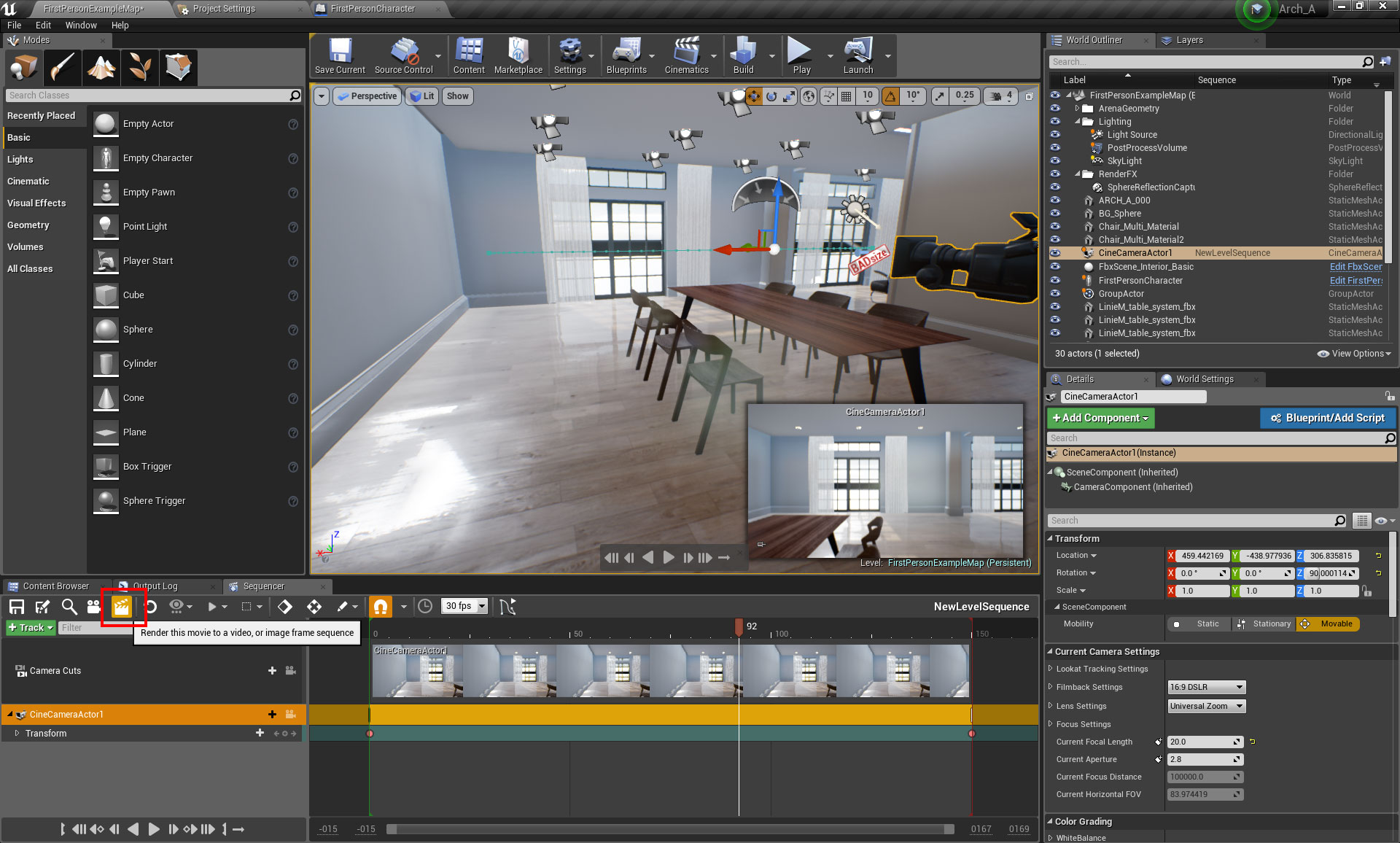 Creating a camera animation in UE4 – Oded Erell's CG Log