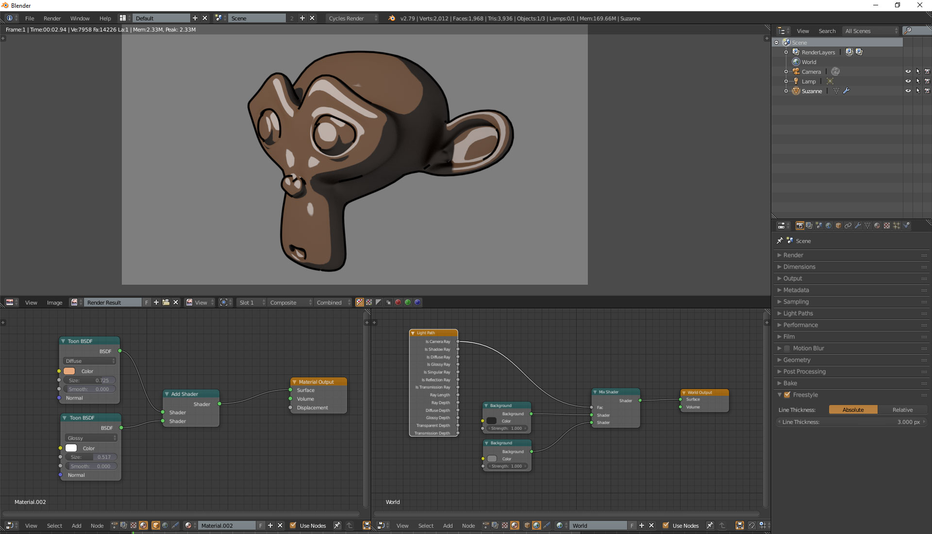 Basic Toon Shading in Blender & Cycles – Oded Erell's CG Log