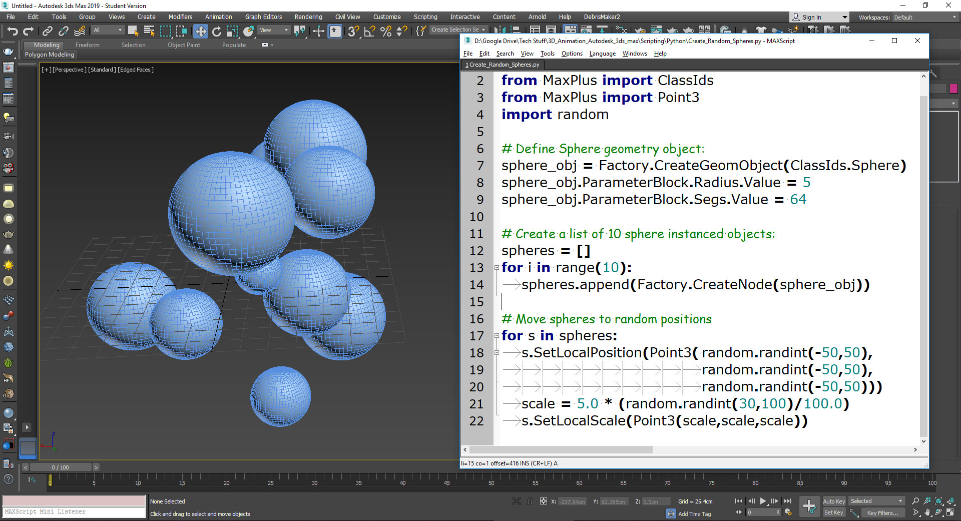 Python for 3ds max – Create Objects – Oded Erell's CG Log
