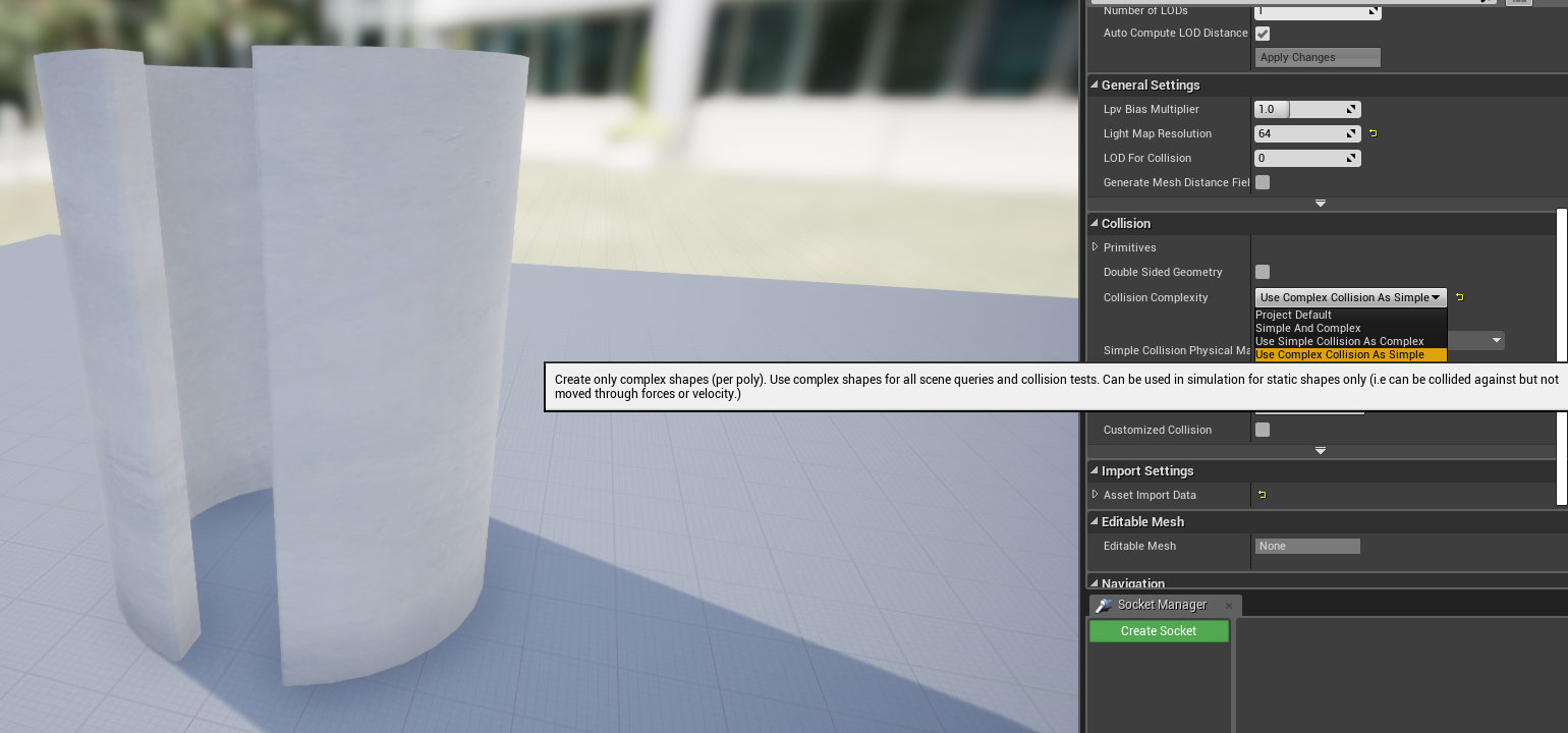 UE4 – Enable complex collision for models – Oded Erell's CG Log